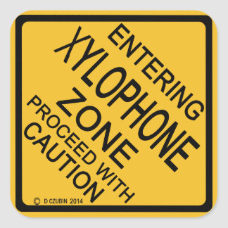 Entering Xylophone Zone Square Sticker