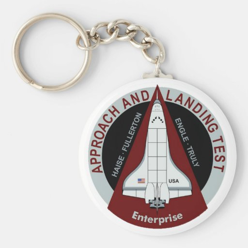 Enterprise: Approach and Landing Tests Basic Round Button Keychain