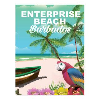 Enterprise Beach Barbados vacation poster Postcard