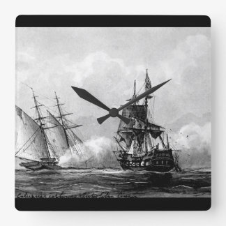 Enterprise capturing Tripolitan Corsair. 1801_War Square Wall Clock