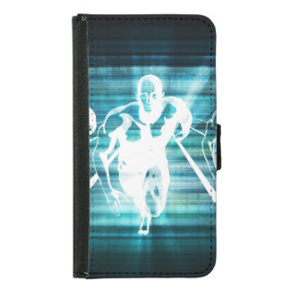 Enterprise Mobility and a Technology Concept Samsung Galaxy S5 Wallet Case
