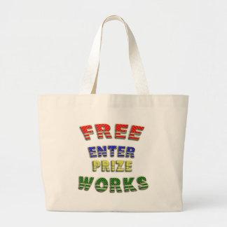 Enterprize libre trabaja bolsos bolsa tela grande
