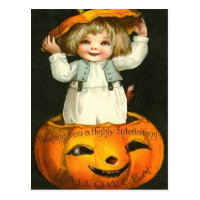 Entertaining Halloween Postcard