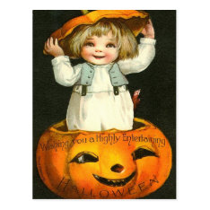 Entertaining Halloween Postcard at Zazzle
