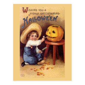 Entertaining Halloween Postcard