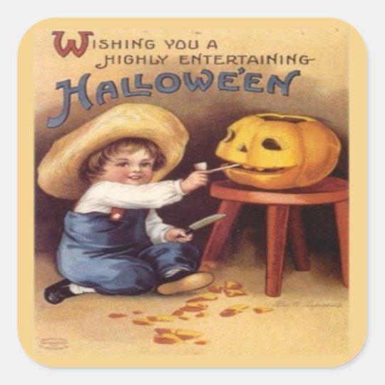 Entertaining Halloween Square Sticker