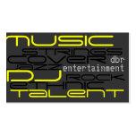 entertainment business card