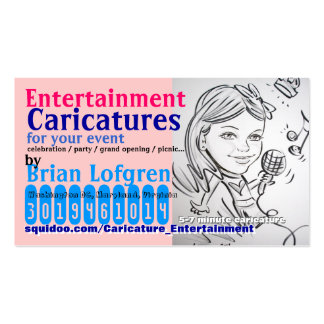 Entertainment Caricatures Business Card