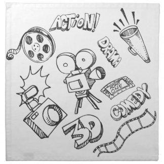 Entertainment Doodles Cloth Napkin