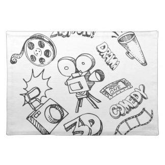 Entertainment Doodles Cloth Placemat