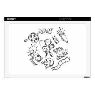 Entertainment Doodles Laptop Skin