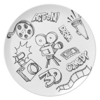 Entertainment Doodles Melamine Plate