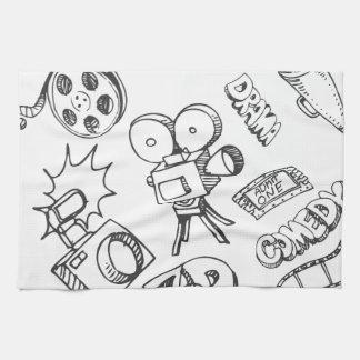 Entertainment Doodles Towel