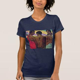 Entertainment In Tahiti By Gauguin Paul T-shirts