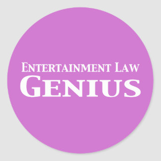 Entertainment Law Genius Gifts Classic Round Sticker