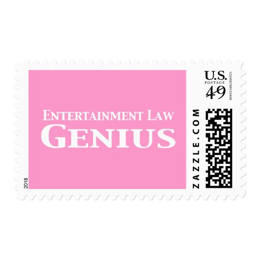 Entertainment Law Genius Gifts Postage Stamp