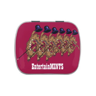 EntertainMINTS tap dancing crocodiles Jelly Belly Tin