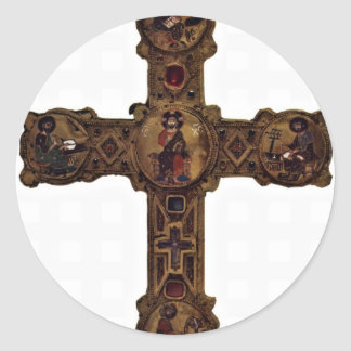 Enthroned Christ And The Four Evangelists (Medalli Classic Round Sticker