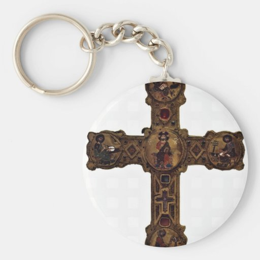 Enthroned Christ And The Four Evangelists (Medalli Key Chain