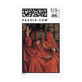Enthroned God The Father By Eyck Hubert Van Best Postage Stamps