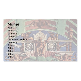 Enthroned Madonna And Angel Musicians Detail Business Cards