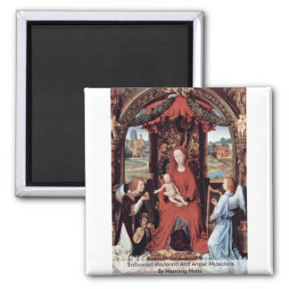 Enthroned Madonna And Angel Musicians Fridge Magnets