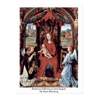 Enthroned Madonna And Angels By Hans Memling Postcard