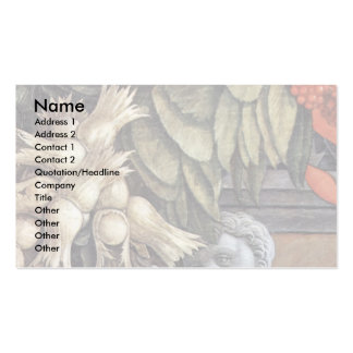 Enthroned Madonna And Angels Detail Double-Sided Standard Business Cards (Pack Of 100)