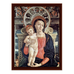 Enthroned Madonna And Angels Detail Postcard