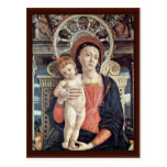 Enthroned Madonna And Angels Detail Postcards