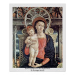 Enthroned Madonna And Angels Detail Poster