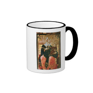 Enthroned Madonna and Child, c.1260 Ringer Coffee Mug