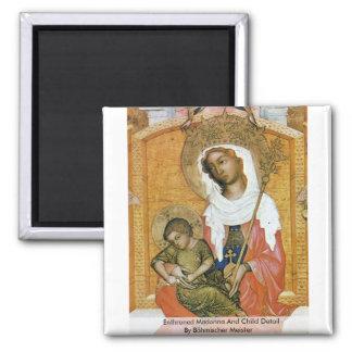 Enthroned Madonna And Child Detail Fridge Magnet