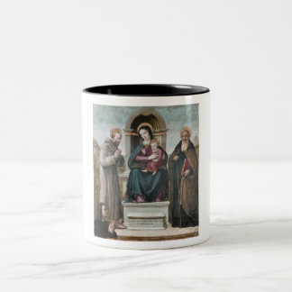 Enthroned Madonna and Child with Saints Mug