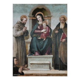 Enthroned Madonna and Child with Saints Print
