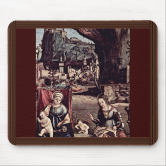 Enthroned Madonna And John The Baptist, Left: Mousepad