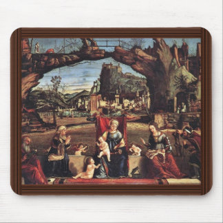 Enthroned Madonna And John The Baptist On The Left Mouse Pad