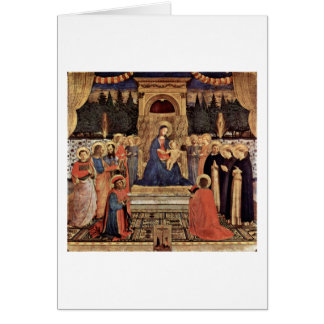 Enthroned Madonna And Saints By Fra Angelico Card
