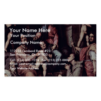 Enthroned Madonna Angels And Saints By Pontormo Ja Business Card Template