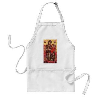 Enthroned Madonna By Italo-Byzantinischer Maler De Adult Apron