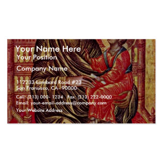 Enthroned Madonna By Italo-Byzantinischer Maler De Business Card Template