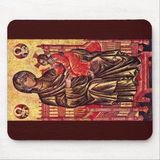 Enthroned Madonna By Italo-Byzantinischer Maler De Mousepad