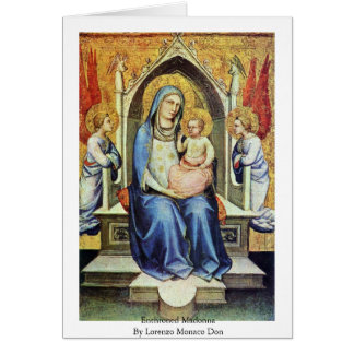 Enthroned Madonna By Lorenzo Monaco Don Greeting Card