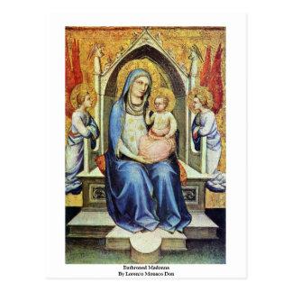 Enthroned Madonna By Lorenzo Monaco Don Postcard