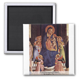 Enthroned Madonna Detail By Angelico Fra Fridge Magnets