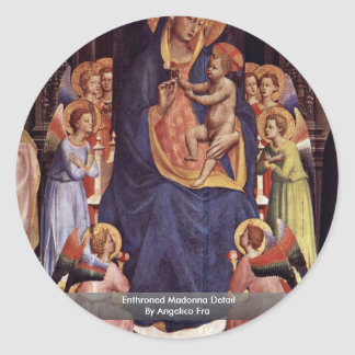Enthroned Madonna Detail By Angelico Fra Sticker