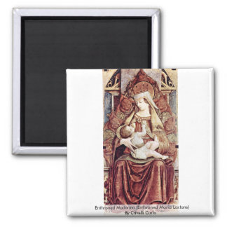 Enthroned Madonna (Enthroned Maria Lactans) Refrigerator Magnets