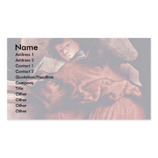 Enthroned Madonna With Angels And Saints Left St Business Card Templates