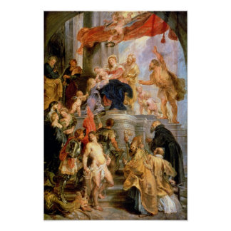 Enthroned Madonna with Child Poster