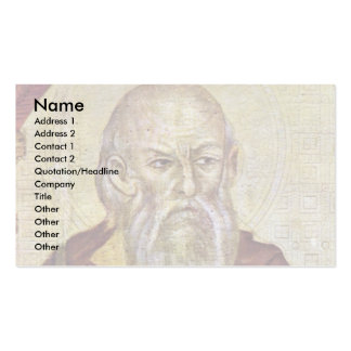Enthroned Madonna With Eight Angels Four Prophets Business Card